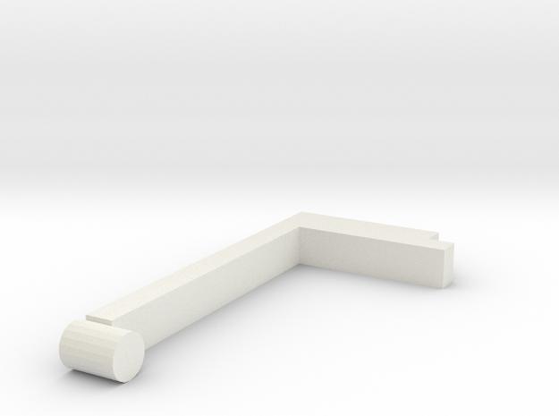 Right handle in White Natural Versatile Plastic