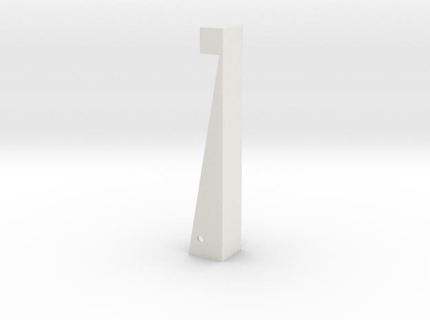 Right half clip in White Natural Versatile Plastic