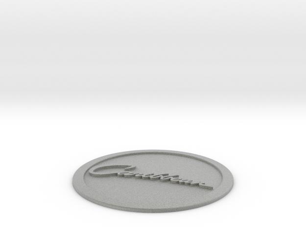 Caribbean Logo in Metallic Plastic