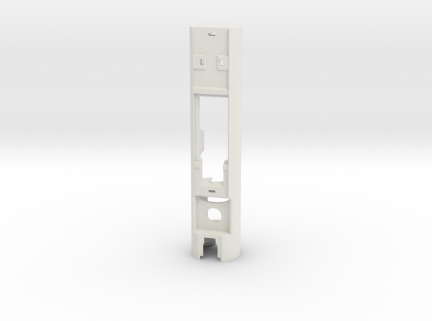 "1"" Removable battery chassis (proffieboard) in White Natural Versatile Plastic"