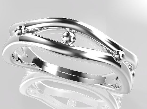 Rina4 Ring Size US6.5(JP Size 12) in Fine Detail Polished Silver