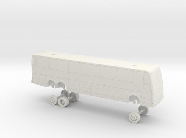 HO Scale Bus 2017 Prevost H3-45 Marin Airporter in White Natural Versatile Plastic