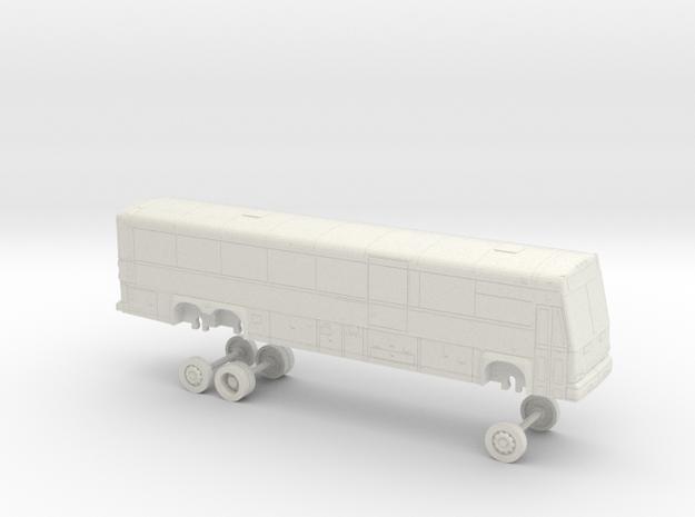 HO Scale Bus 2017 MCI D4500CT Modesto MAX 21769 in White Natural Versatile Plastic