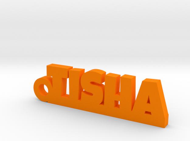 TISHA_keychain_Lucky in Orange Processed Versatile Plastic