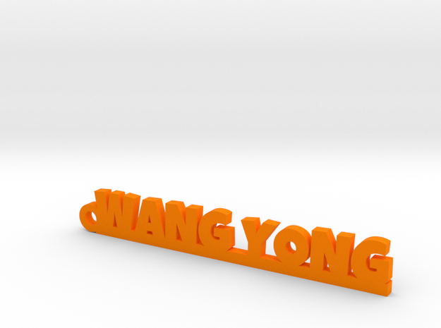 WANG YONG_keychain_Lucky in Orange Processed Versatile Plastic