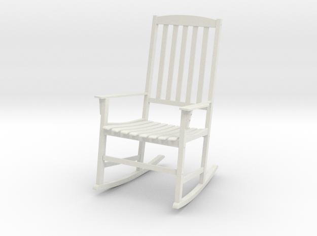 Rocking Chair in White Natural Versatile Plastic: 1:12