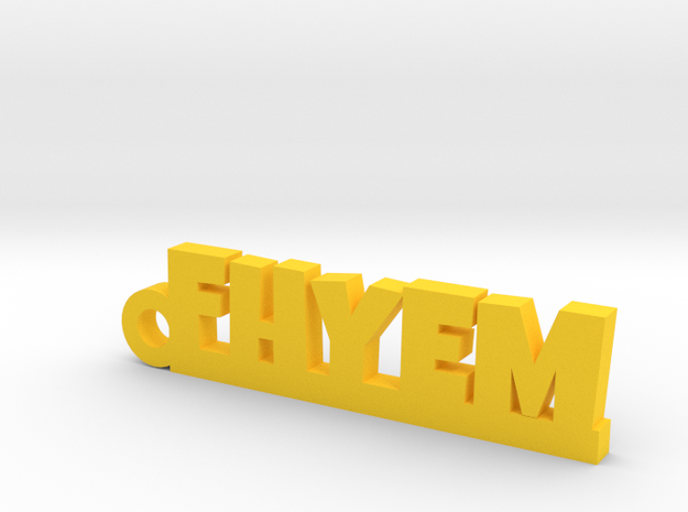 FHYEM_keychain_Lucky in Yellow Processed Versatile Plastic