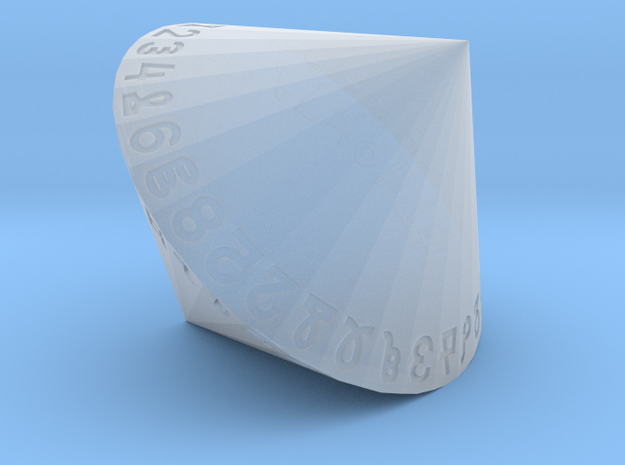 d58 Dice (Argam, Bigger) in Smooth Fine Detail Plastic
