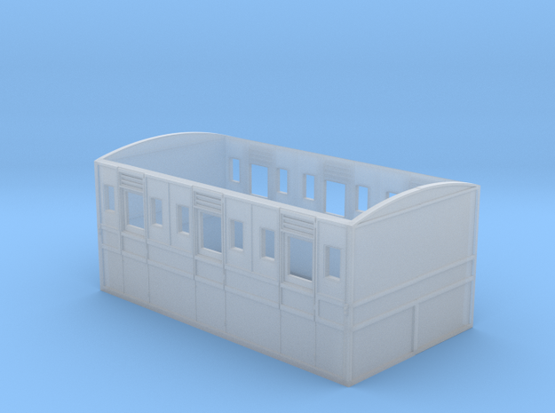 GWR early third coach 3 compartment in Smooth Fine Detail Plastic