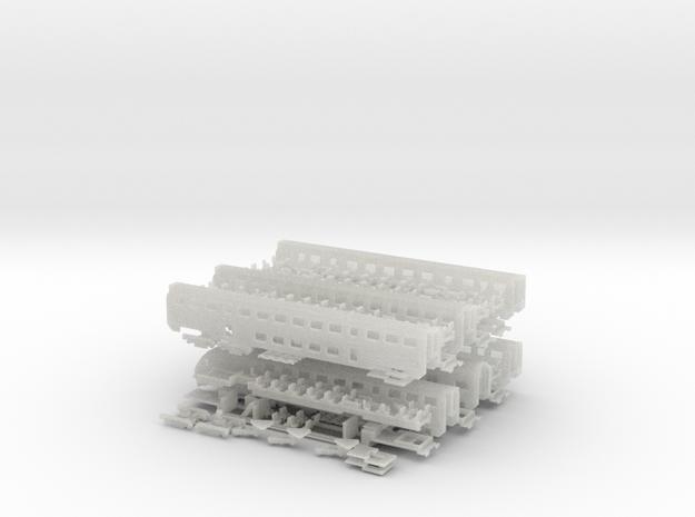 Doppelstock-IC Zugset 1:220 3d printed