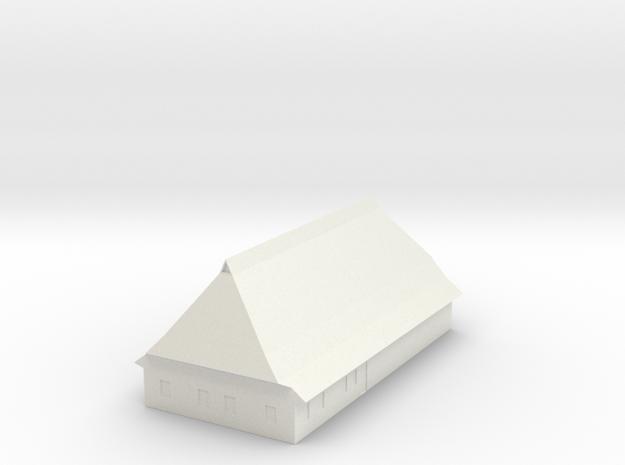 1/300 North German Timberframe Farm House - Brick 3d printed