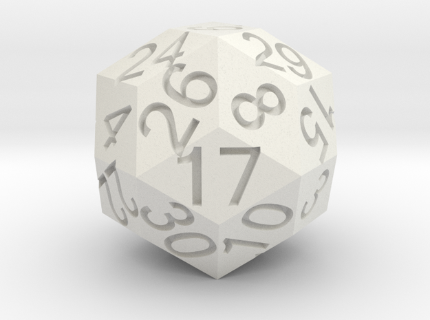 D30 Solid in White Natural Versatile Plastic