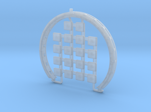 DeAgo Falcon - Corridor Ring V2 - Separated Pads in Smooth Fine Detail Plastic