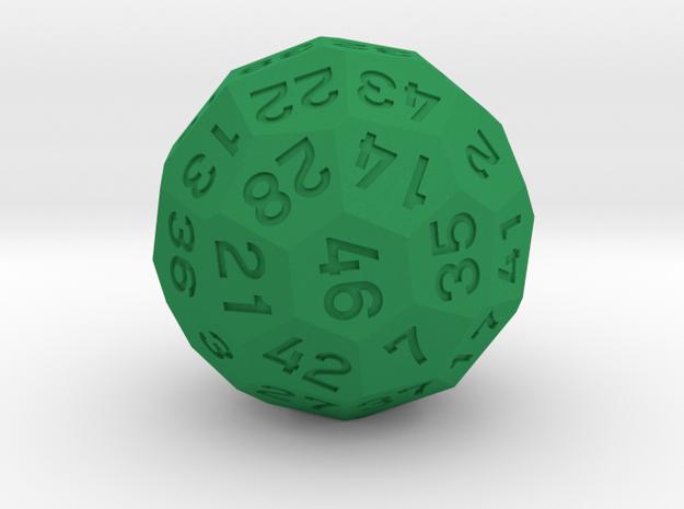 d46 Dice [Version 1] in Green Processed Versatile Plastic