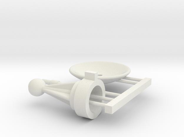 1/1000 Planetary Sensor Array Modified Mount Kit in White Premium Versatile Plastic