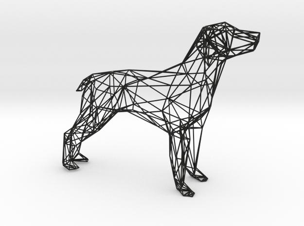 Dog Wire Sculpture in Black Natural Versatile Plastic