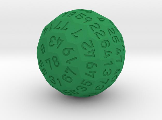 d78 Dice in Green Processed Versatile Plastic