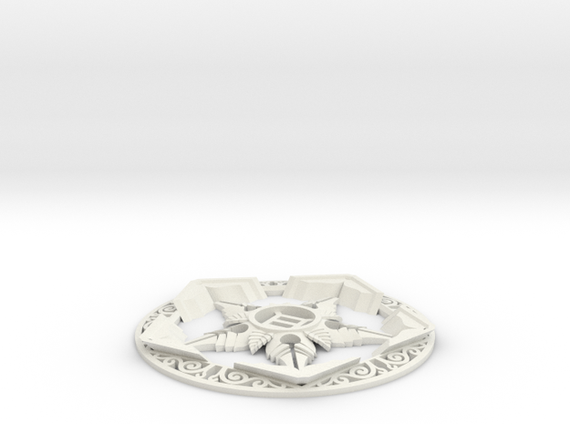 Riven Pentacle in White Natural Versatile Plastic
