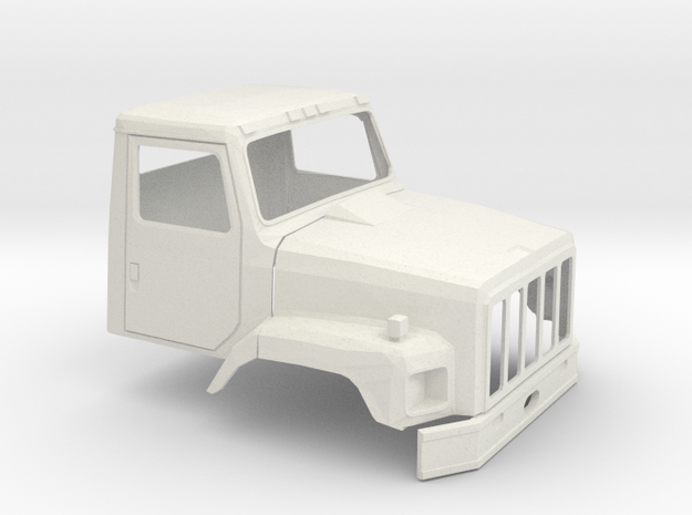 1/18 International S2600 Cab in White Natural Versatile Plastic