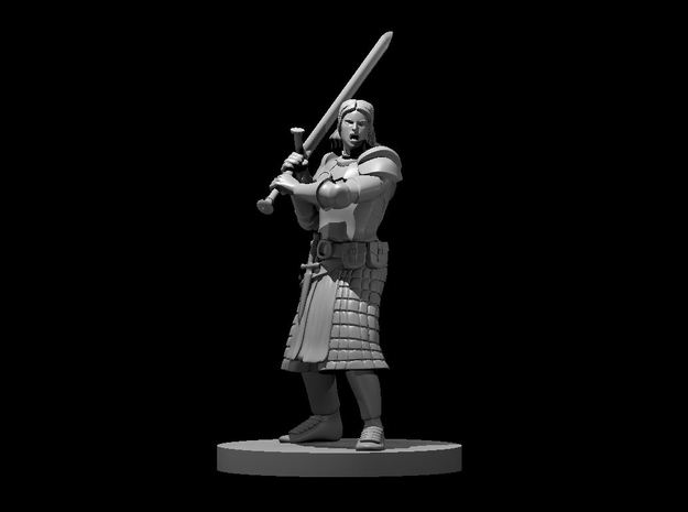 Human Female Great Weapon Fighter in Smooth Fine Detail Plastic