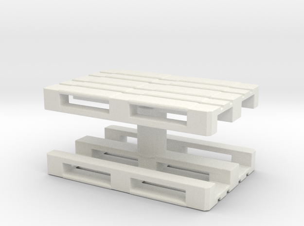 Euro Pallet (x2) 1/43 in White Natural Versatile Plastic