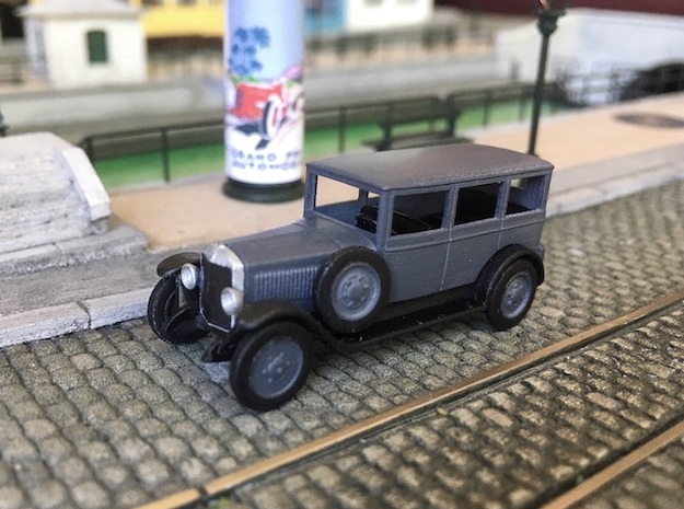Unic L2 Berline 1924 - Ho 1:87  in Smooth Fine Detail Plastic