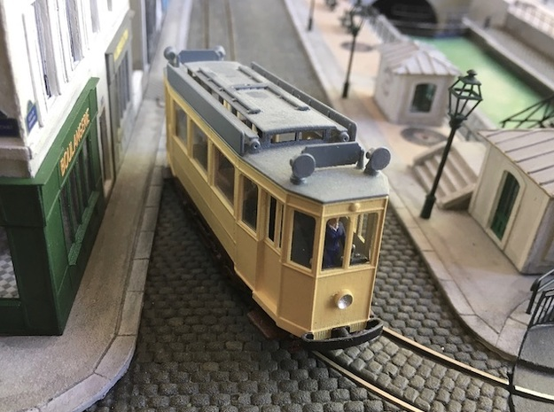 1:87 Nantes tramway (body only) in Smooth Fine Detail Plastic