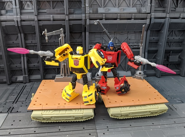 TF TR Legends BumbleBee Blaster 2 Pack in White Natural Versatile Plastic