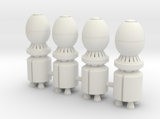 GP02 Warhead 1/60 scale 4 pack in White Natural Versatile Plastic