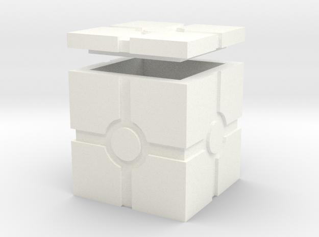 Hollow Iconic Box, Squared in White Processed Versatile Plastic