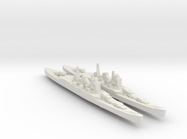 2pk sprue IJN Mogami cruiser 1:2400 VerPl WW2 in White Natural Versatile Plastic