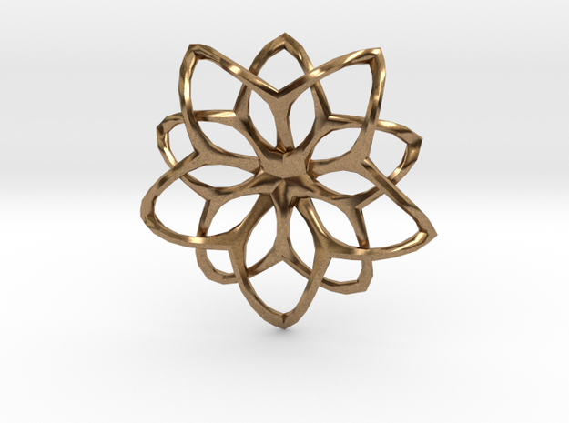 Flower Loops Pendant 3d printed