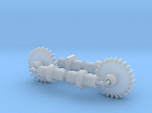 Bachmann HO US 4-8-4 Replacement Axles & Gear in Smooth Fine Detail Plastic
