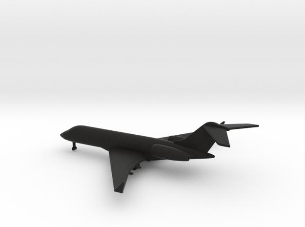 Bombardier Global 5000 in Black Natural Versatile Plastic: 1:400