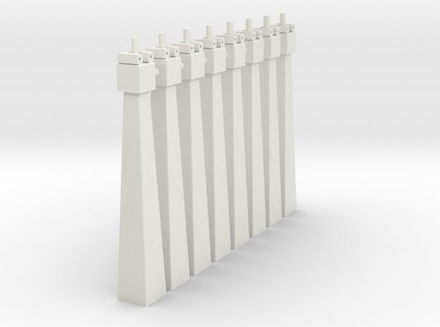 pylon_dl_n_55mm_pinx8 in White Natural Versatile Plastic