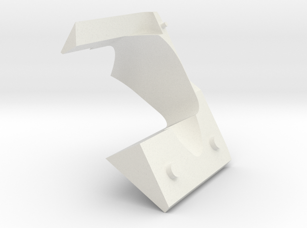 ExcitationPathHeatShield_top in White Natural Versatile Plastic