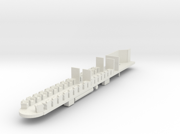 VR Spirit of Progress Obs Car Chassis in White Natural Versatile Plastic