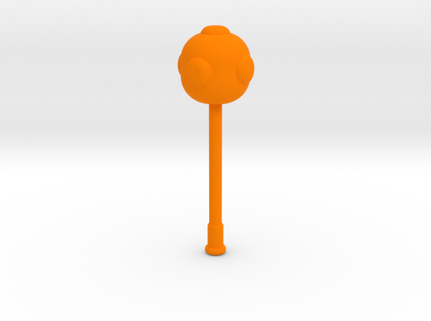 Long Mace in Orange Processed Versatile Plastic