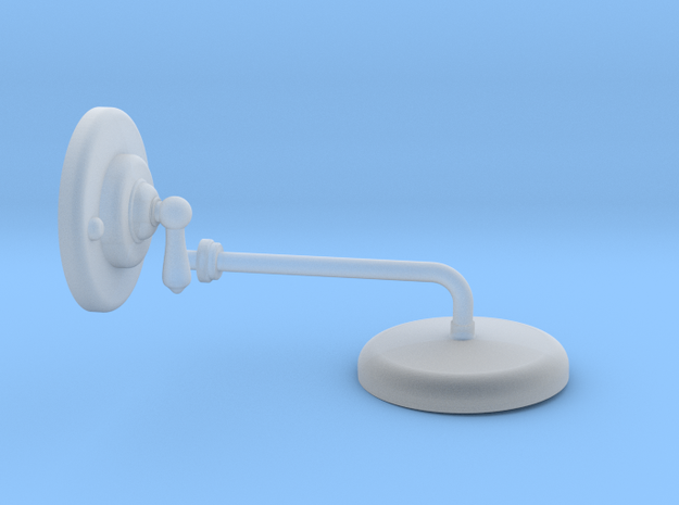 Shower Head and Valve: Basic in Smooth Fine Detail Plastic