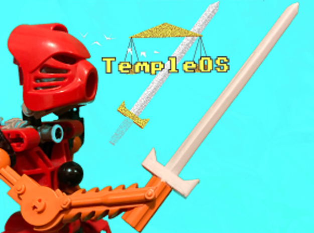 Bionicle TempleOS Sword in White Natural Versatile Plastic