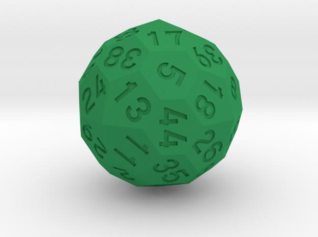 d44 Dice in Green Processed Versatile Plastic