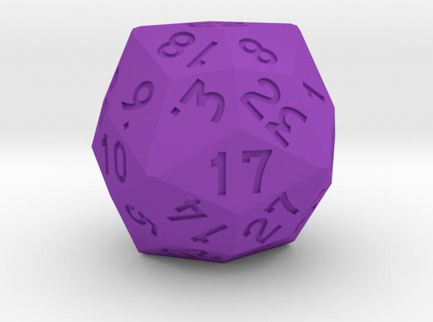 Dozenal d30 [d36] in Purple Processed Versatile Plastic