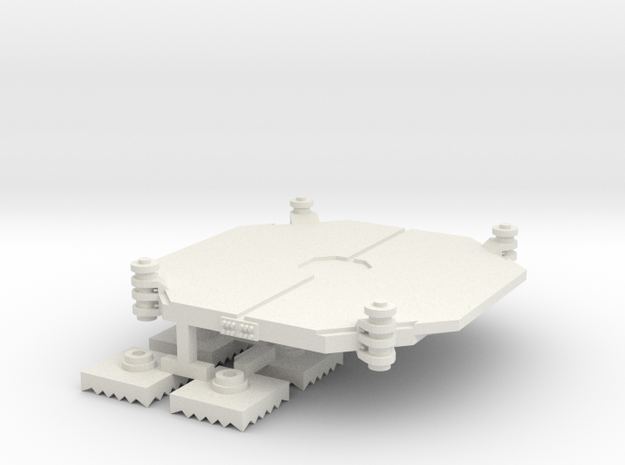 Air Mobile Artillery Platform Vietnam 1 to 285 in White Natural Versatile Plastic