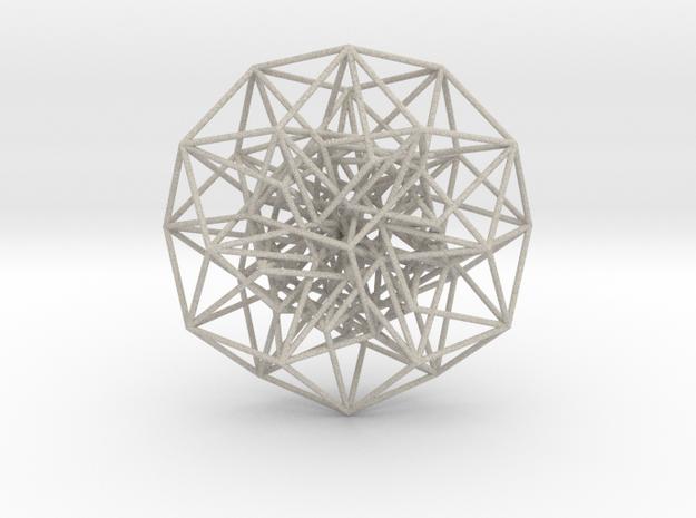 Toroidal 6D Hypercube 200mm diameter Rainbow in Natural Sandstone