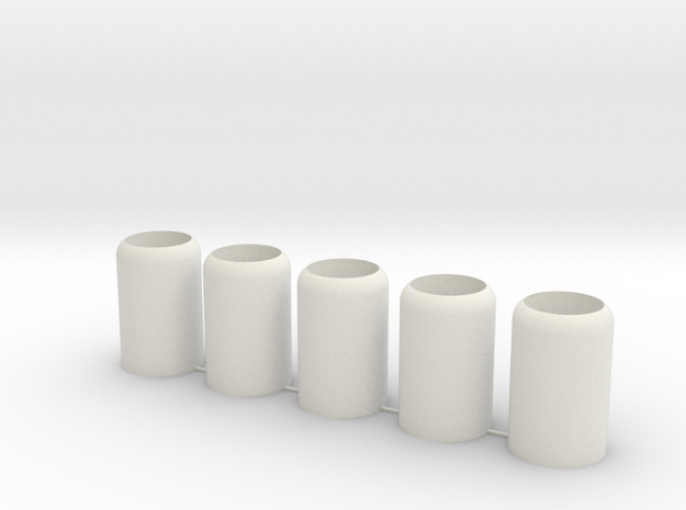Small Nub - 5 Pack in White Natural Versatile Plastic