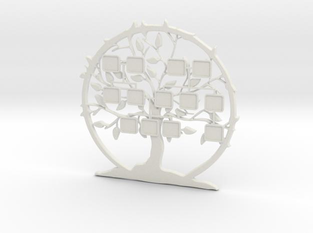 Family Tree 3D (XL) in White Natural Versatile Plastic