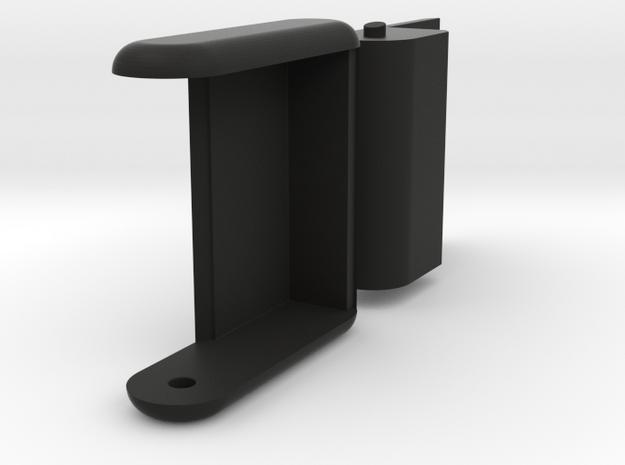 "Folding card holder for 2"" square cards (20 cards) in Black Natural Versatile Plastic"