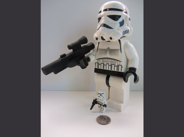 Large Storm Trooper Rifle Accessory in Black PA12