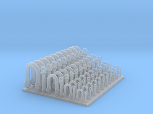 Shackle Set  40x in Smooth Fine Detail Plastic