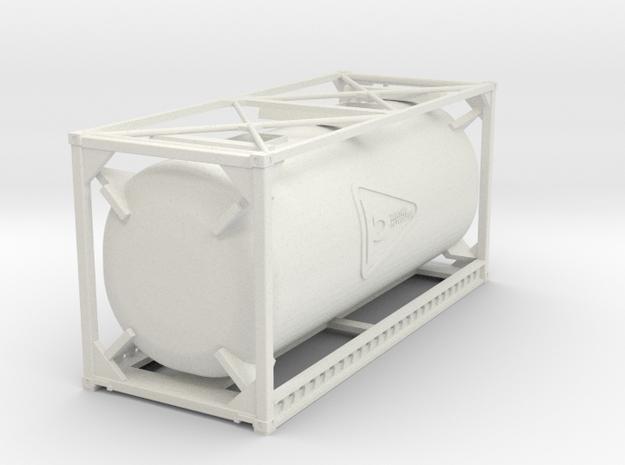 Container Tank in White Natural Versatile Plastic: 1:75
